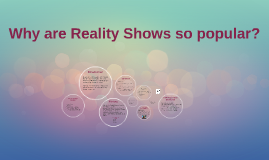 The Reality of Reality Shows
