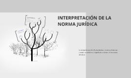 INTERPRETACIÓN DE LA NORMA JURÍDICA