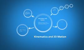 Kinematics and 2D Motion