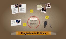 Plagiarism in politics