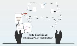 Tilde diacrítica interrogativa y exclamativa