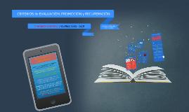 CRITERIOS DE EVALUACIÓN, PROMOCIÓN Y RECUPERACIÓN