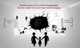 Manifestaciones de la violencia intrafamiliar durante el sig