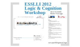 Intro talk to Logic & Cognition Workshop