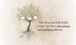 """Copy of """" The Rise and Fall of Jim Crow """" by Maria Barahona and Jeri"""