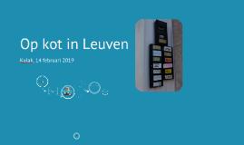 Op kot in Leuven (Kortrijk, 2019)