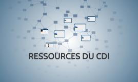 RESSOURCES DU CDI