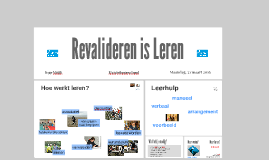 Copy of Copy of Revalideren is Leren en ADL