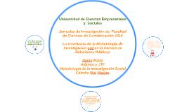 Copy of Jornadas de Investigación de  Facultad de Ciencias de Comuni