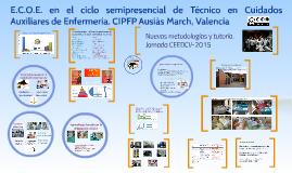 Copy of Copy of E.C.O.E. en el ciclo semipresencial de Auxiliar de Enfermerí