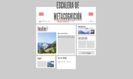 ESCALERA DE METACOGNICIÓ