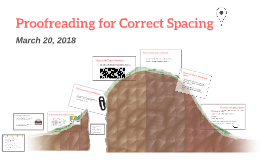 Proofreading for Correct Spacing