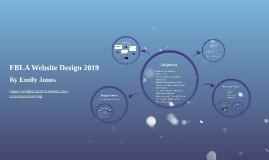 FBLA Website Design 2019