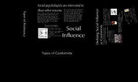 Social Influence: Conformity and Resistance