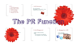 The PR Function