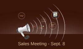 Sales Meeting - Sept. 8