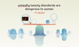 unhealty beauty standards are dangerous to women