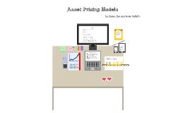 Asset Pricing Models