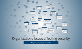 Organizations issues affecting security