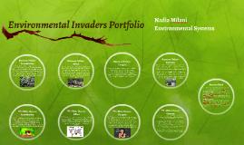 Environmental Invaders Portfolio