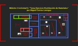 """Módulo 2 Actividad 5: """"Tarea Ejercicio Distribución de Mater"""