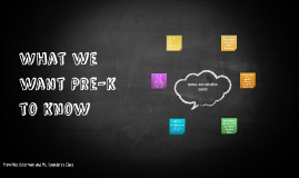 What we want Pre-k to know