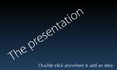 Classic presentatio