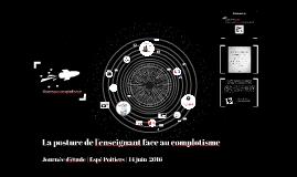 La posture de l'enseignant face au complotisme | Espé Poitiers | Juin 2016