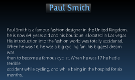 Paul Smith fashion designs