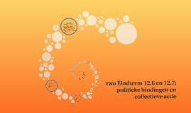 vwo Eindterm 12.6 en 12.7: politieke bindingen en collectiev