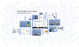 University of London: Sustainability Report