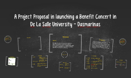 Copy of A Project Proposal in launching a Benefit Concert in