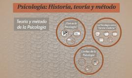 Teoría y método de la Psicología
