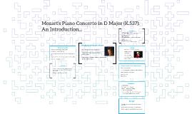 Mozarts' Piano Concerto in D Major (K.537):