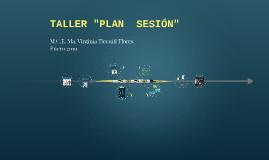 "TALLER ""PLAN  SESION"""
