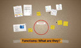 Functions: What are they?