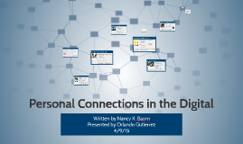 Copy of Personal Connection in the Digital Age