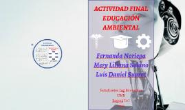 Actividad Final Educación Ambiental