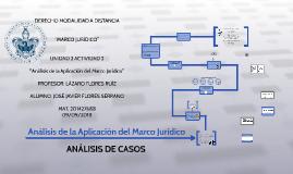 Análisis de la aplicación del marco jurídico