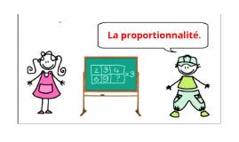 La proportionnalité.