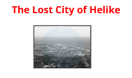 The lost City of Helike