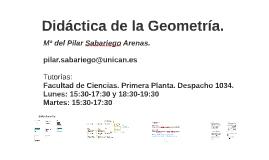 Didáctica de la Geometría.