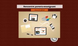 Rencontre parent-enseignant