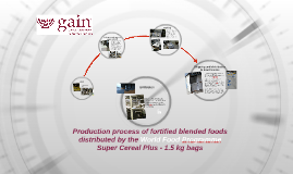 Production process of fortified blended foods