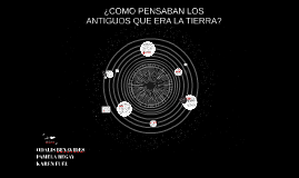 Copy of ¿COMO PENSABAN LOS ANTIGUOS QUE ERA LA TIERRA?