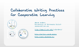 Collaborative Writing Practices for Cooperative Learning