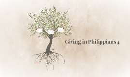 Giving in Philippians 4