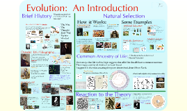 AP Bio- Introduction to Evolution and Natural Selection