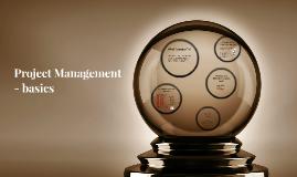 Project Management - basics