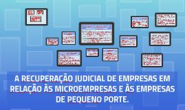 A RECUPERAÇÃO JUDICIAL DE EMPRESAS EM RELAÇÃO ÀS MICROEMPRES